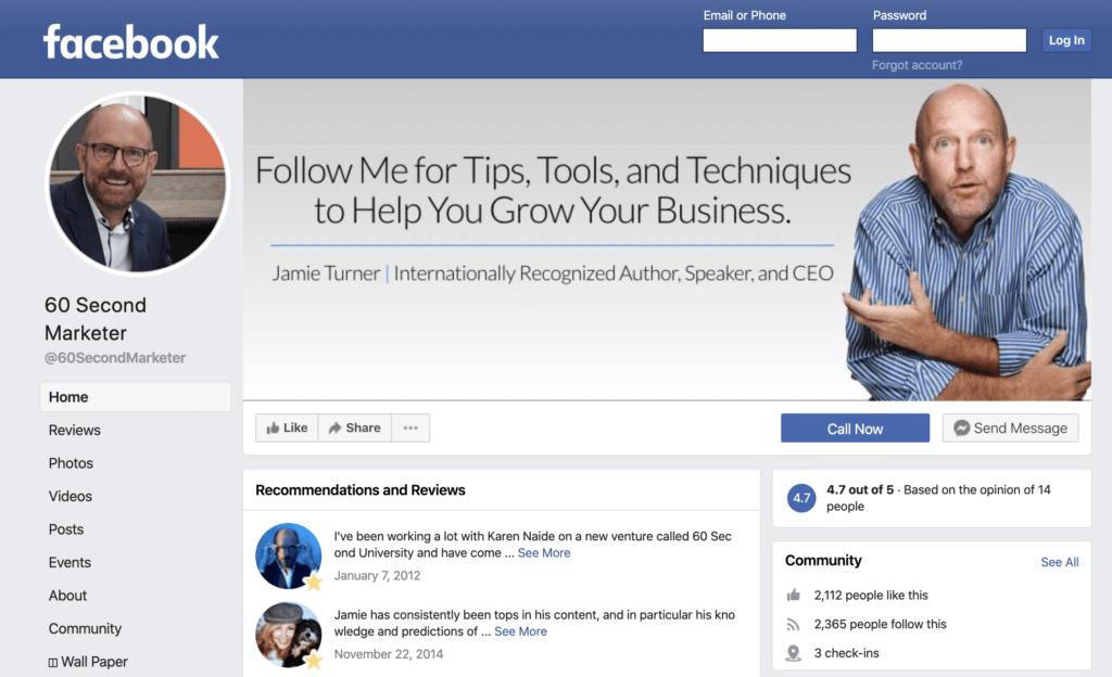 Facebook Profile vs. Facebook Page