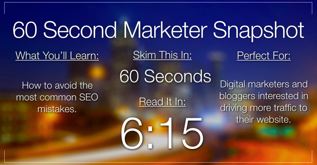 Are You Still Making These Classic SEO Mistakes?