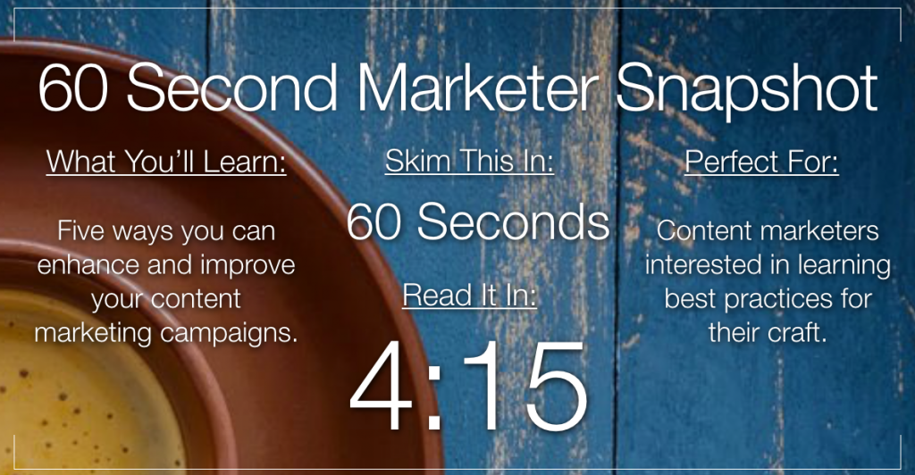 5 Ways to Improve Your Content Marketing Today.