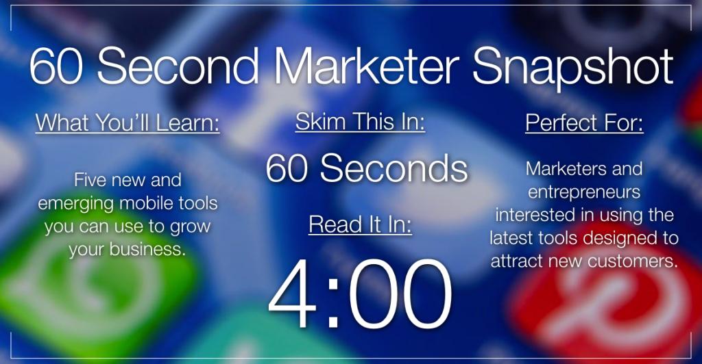 5 Next Gen Mobile Marketing Tools to Improve ROI