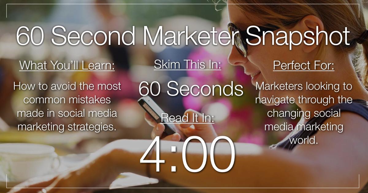 9 Most Common Social Media Marketing Mistakes