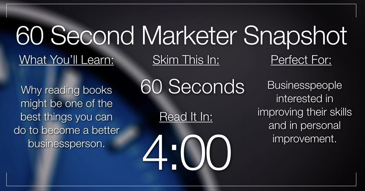 7 Ways Reading a Book Every Day Will Help You Become a Better Marketer