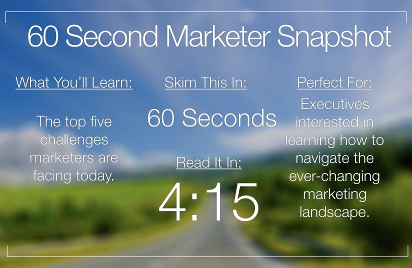 What Drives Today's Marketers?