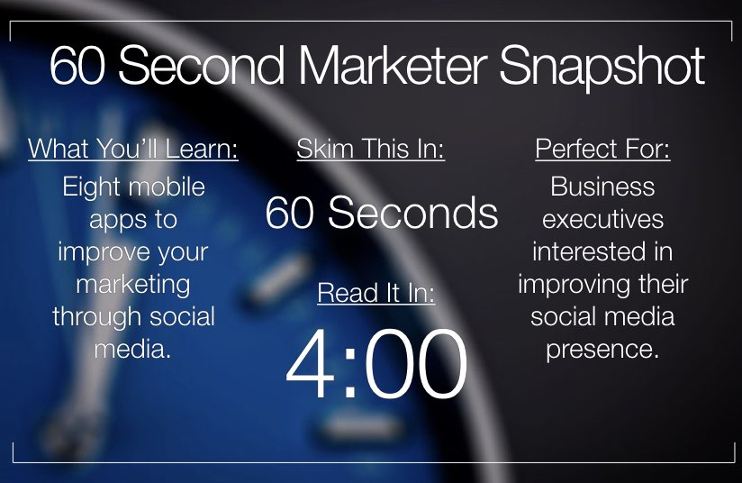 8 Mobile Apps Busy Executives Use to Keep Up Their Social Presence