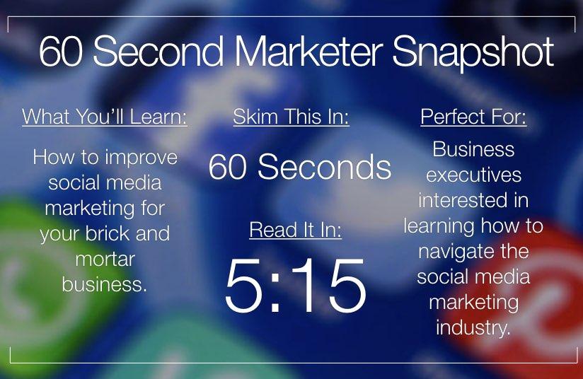 Social Media Marketing for Brick and Mortar Retail