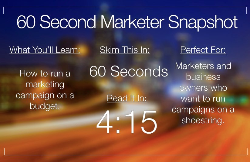 Bootstrap Your Marketing In 60 Seconds