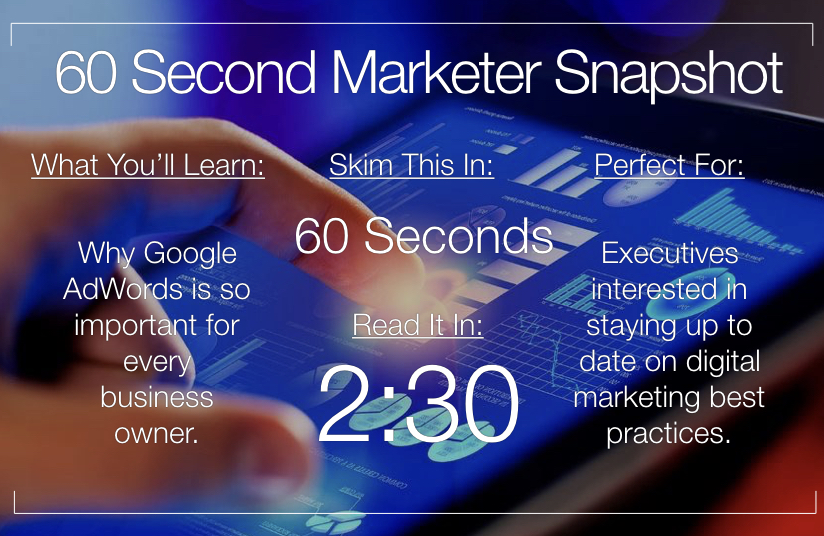Why Every Business Owner Should Invest In Google Adwords | 60 Second