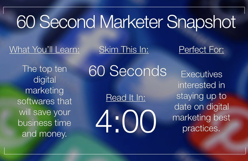 Ten Online Marketing Software That Will Save You Time and Money