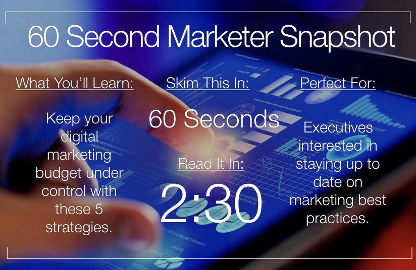 5 Simple Strategies to Streamline Your Digital Marketing Budget