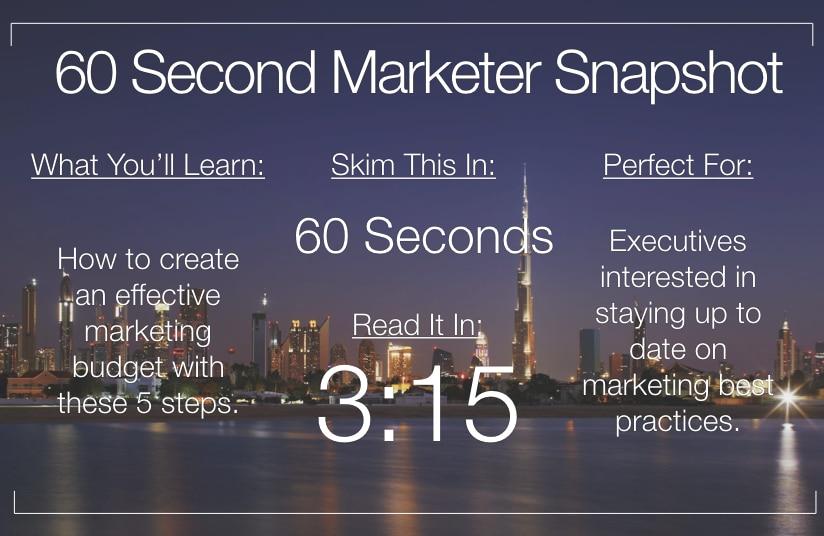 5 Steps to Create a Marketing Budget