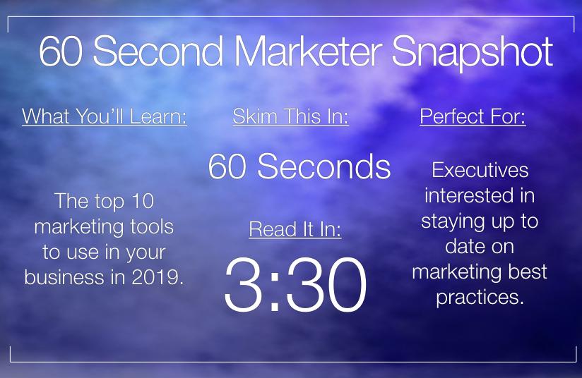 Top 10 Marketing Tools