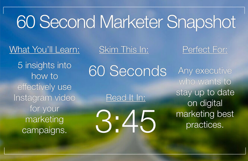 Your Guide To Video Marketing On Instagram