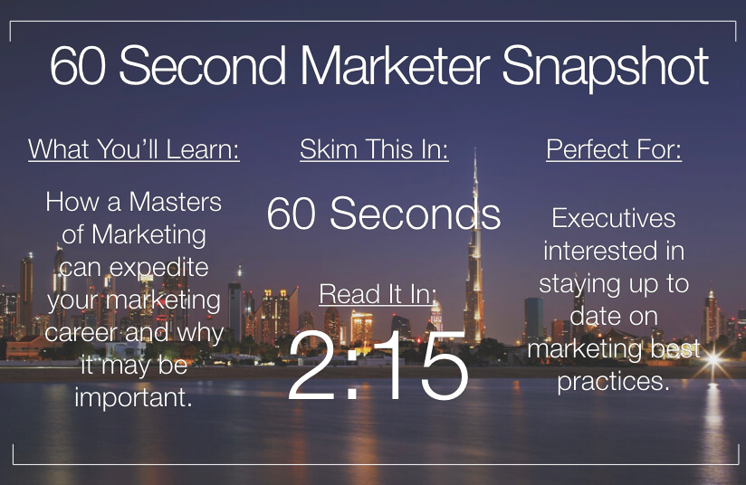 Why You Should Consider a Master of Marketing (Even If You're Already a Marketing Pro)