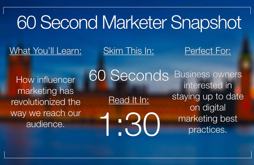 The Influencer Marketing Revolution In 60 Seconds (Infographic)
