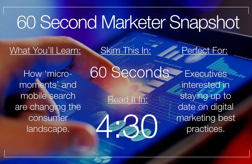 How Consumers are Fulfilling Their Needs with Micro-Moments & Mobile Search