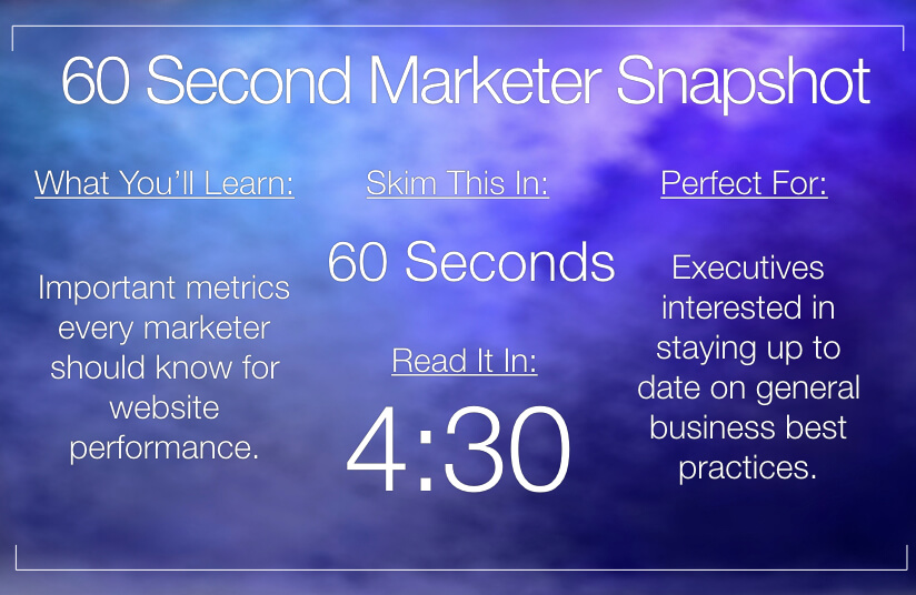 Website Performance – Key Metrics and Facts Every Marketer Should Know