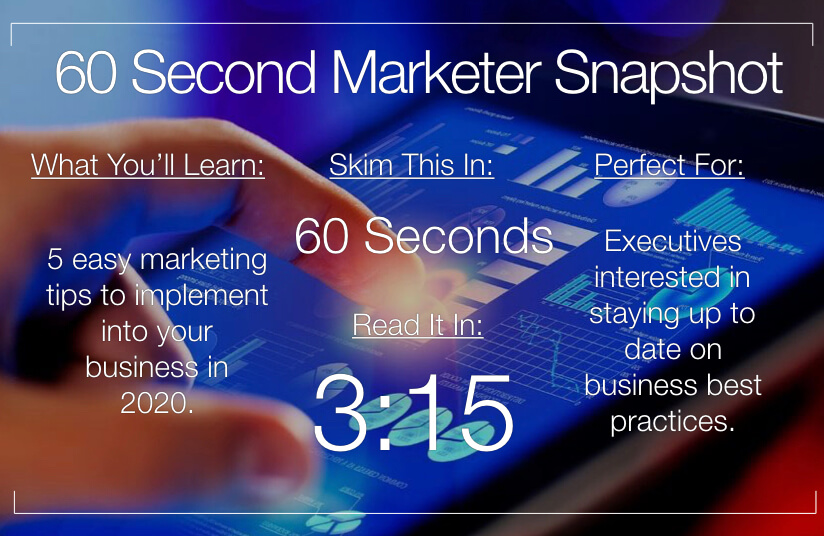 Marketing Tips We Should All Consider In 2020