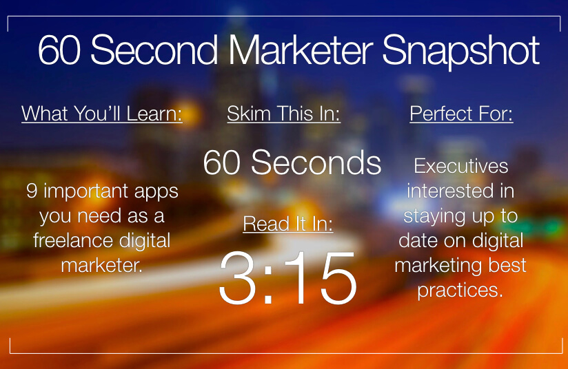 Apps You Need As A Freelance Digital Marketer