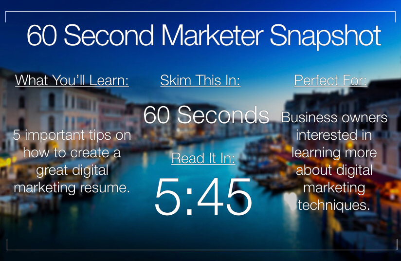 5 Tips for a Killer Digital Marketing Resume [with Example]